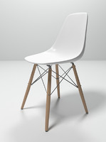 3d eames plastic chair model