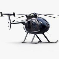 md helicopter 3d model