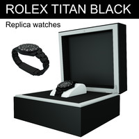 rolex titan black replica 3d model