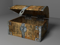 old chest 3d obj