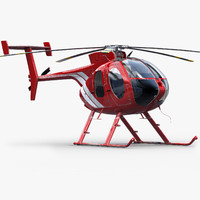 3d model md helicopter