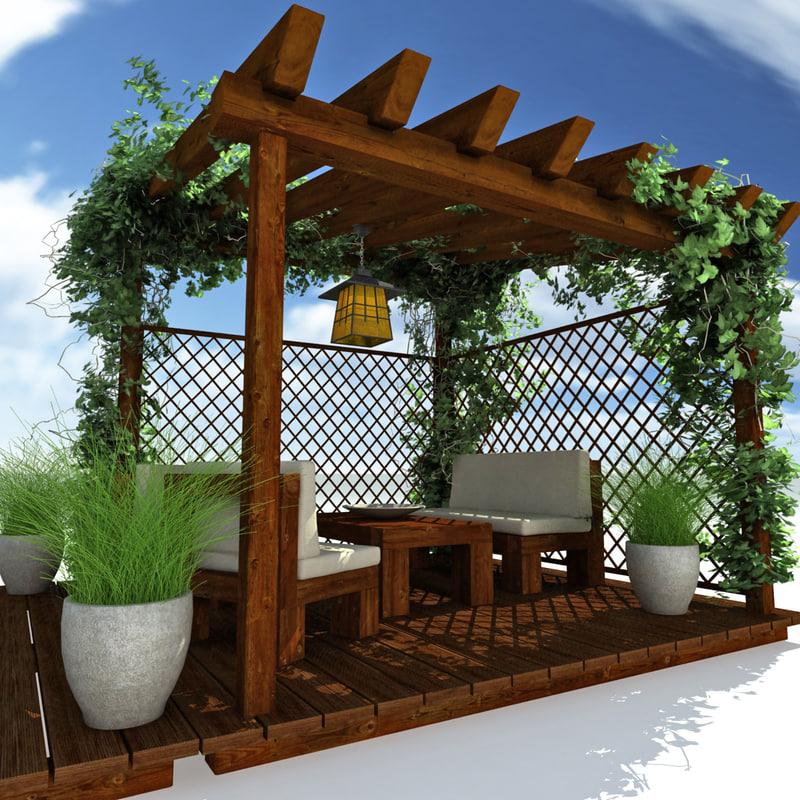 3ds Garden Pergola