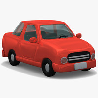 3d obj cartoon car
