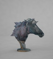 3d max horse bust