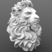 lion figure 3d obj