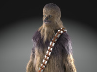 star wars chewbacca 3d model
