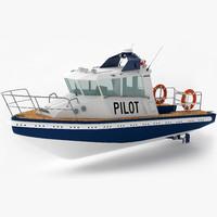 3d pilot boat model