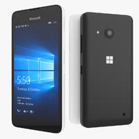 3d model microsoft lumia 550 smartphone