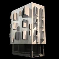 modern corner building 3d max