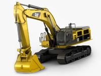 excavator 390d 390 3d max