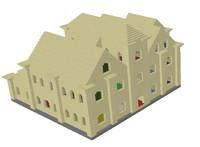 3d stone mansion