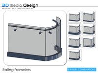 3d model 3dmd railing frameless