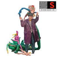psychedelic sculpture lunapark 8k 3d obj