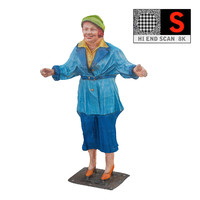 3d model statue lunapark 8k
