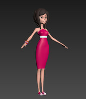 girl cartoon 3d max