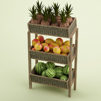 3d model fruit stand store 11