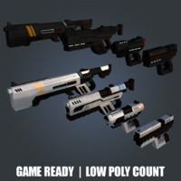 sci-fi weapons gun obj