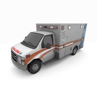 3d model e-350 ambulance