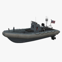 3d model of inflatable boat