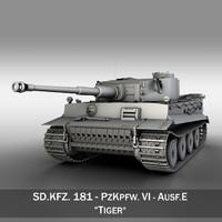 sd panzerkampfwagen vi - 3ds