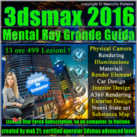 Corso 3ds max 2016 Mental Ray Grande Guida Locked Subscription, un Computer