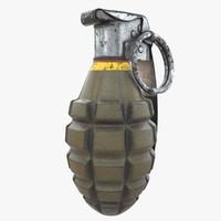 mk2 hand grenade - 3d model