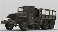 gmc cckw army cargo truck 3d obj