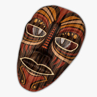 3d model mask antique ornaments