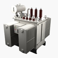 voltage transformer 3d model