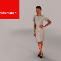 3d woman businesswoman business