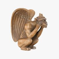 gargoyle sculpture 3d max