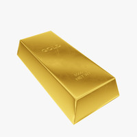 gold ingot 3d model