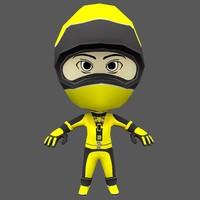 character flip riders 2 3d model