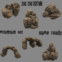 3d obj mountain mount rock