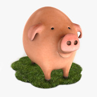 3d cartoon pig