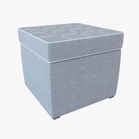 free pouf 3d model