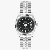 Rolex Datejust 36 Steel and White Gold Black Dial