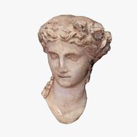 ancient bust 3d obj