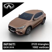 3d 2016 infiniti qx30