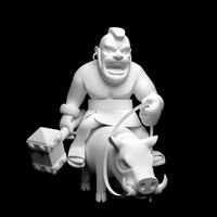 3ds printable hog rider o