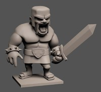 3d barbarian printable model