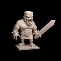 barbarian printable 3d model