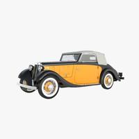 3d 1934 lancia belna cabriolet model