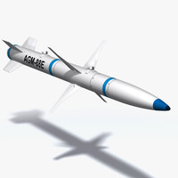 agm-88 harm missile 3d model
