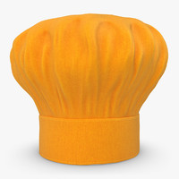 realistic chef hat 04 3d 3ds