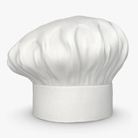 realistic chef hat 05 3ds