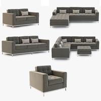 3d sofa chair jane model
