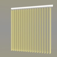 wand operated vertical blind 3d model