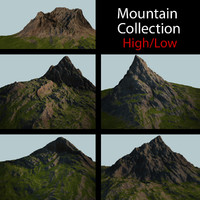 3d model of mountain mount