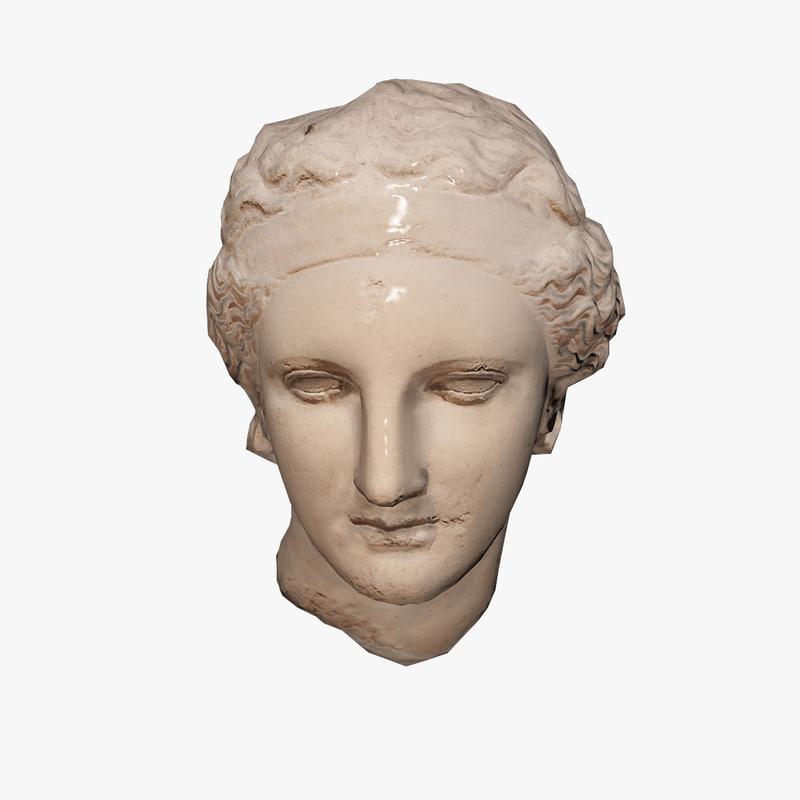 3d ancient bust dionysus model